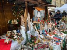 Bardzo świątecznie na jarmarku na placu Ratuszowym