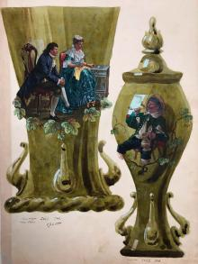 Konserwacja ręcznie malowanych wzorników szklarskich ze zbiorów Muzeum Karkonoskiego w Jeleniej Górze