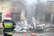Dramat przed lotniskiem w Jeleniej Górze. Pilot zginął na miejscu