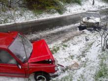 Atak zimy: Opel zderzył się z Peugotem