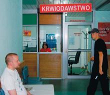 Pół dnia czekania w stacji krwiodawstwa