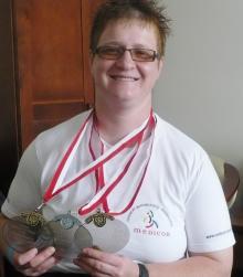 Lucyna Kornobys z trzema medalami MP