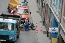 Zapada się asfalt na Krótkiej