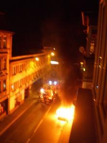 Spłonęło audi
