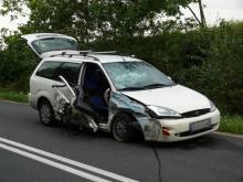 Groźny wypadek, jedna osoba w szpitalu