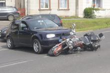 Wjechał w małżeństwo podróżujące motocyklem