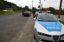 Policyjna łapanka na Łomnickiej