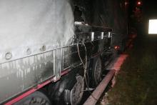 Paliła się ciężarówka