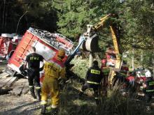 Strażacy odzyskali wóz