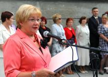 Jadwiga Dąbrowska podczas czerwcowego zakończenia roku szkolnego. Fot. ROB