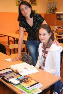 12-letnia Oliwia jako jedyna z siedmiorga poszkodowanych dzieci przyszła dzisiaj do szkoły.
