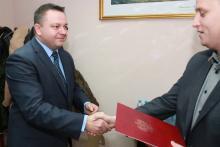 Michał Orman dzisiaj otrzymał zaświadczenie o wyborze i złożył ślubowanie.