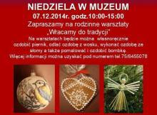 Świąteczne warsztaty w Muzeum Karkonoskim