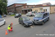Policjanci poszkodowani w wypadku na K. Miarki