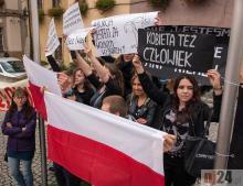 Czarny Protest w Jeleniej Górze.