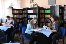 Szkolna czytelnia - kawiarenką