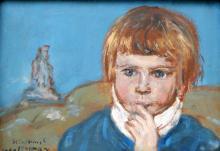 Wlastimil Hofman - Portret chłopca (ze zbiorów prywatnych)