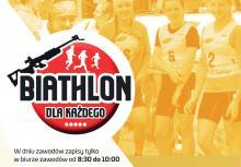 Impreza biathlonowa na stadionie