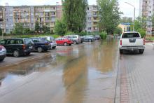 Awaria – woda wylewała się na ulicę