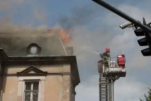 Pożar w centrum miasta