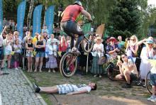 Efektowny początek finału rowerowego święta