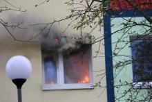 Pożar w mieszkaniu na Zabobrzu