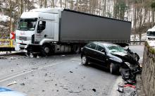 Groźne zderzenie na drodze do Szklarskiej Poręby