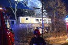 Pożar budynku w Cieplicach