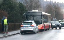 Autobus gwałtownie zahamował, są poszkodowani