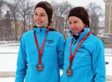 Biegaczki KS SMS Natalia Bielak i Sandra Kraszewska