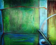 Teresa Kwiatkowska - Zielona łąka, 2015, olej na płótnie 80x100 cm