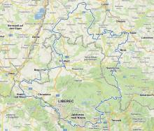 """mapka z czeskiej strony ER """"Nysa"""""""