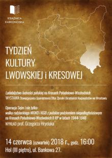 Tydzień Kultury Lwowskiej i Kresowej trwa