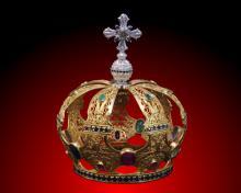 Korona Wielkiej Czwórki - wykonana z pozłacanego srebra, wysadzana diamentami, szmaragdami, szafirami i rubinami.