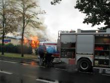 Pali się noclegownia przy ul. Sobieszowskiej w Cieplicach