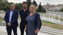 Prezes Włodzimierz Staszak (po lewej), kierownik działu zieleni Piotr Hamowski oraz wiceprezes Katarzyna Wierska-Kuberka.
