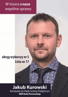 JAKUB KUROWSKI - Kandydat do Rady Gminy Podgórzyn