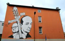 Jeleniogórskie Gwiazdy Jazzu na ścianie i na estradzie