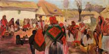 Włodzimierz Tetmajer (1862-1923), Święcone w Bronowicach, ok. 1897, olej na płótnie / dar Olgi i Tadeusza Litawińskich z 1986 r.