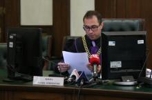 Na zdjęciu sędzia Daniel Strzelecki podczas uzasadnienia wyroku.