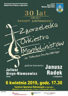 Koncertowe 30-lecie Zgorzeleckiej Orkiestry Mandolinistów