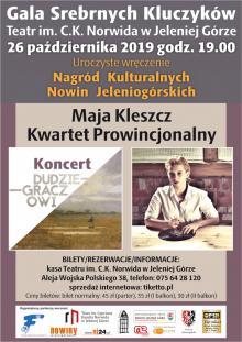 Maja Kleszcz i Kwartet Prowincjonalny na Gali Srebrnych Kluczyków 2019!