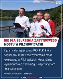 Posłowie włączają się do batalii o most w Pilchowicach