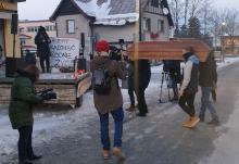 """Protest w Karpaczu:  """"jesteśmy w czarnej d..pie!"""""""