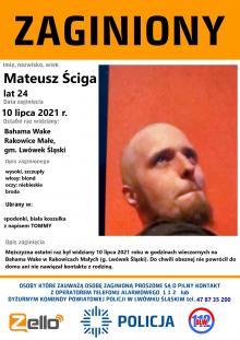 Zaginął Mateusz Ściga