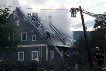 Pożar w Pakoszowie – rodzina straciła dach nad głową