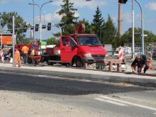 Skrzyżowanie - przeszkoda dla wozów strażackich