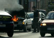 Samochód zapalił się podczas jazdy