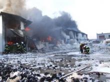 Spłonęła fabryka zniczy