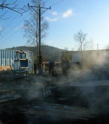 Groźny pożar na budowie